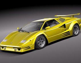 Lamborghini Countach 5000QV 25th anniversary 3D Model