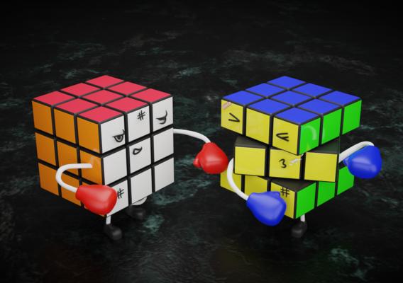 Rubiks Cube Fight Scene