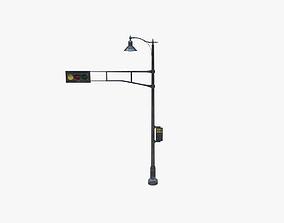 Street Light With Traffic Light 01 3D model