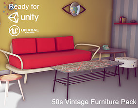 3D model 50s Vintage Furniture Pack