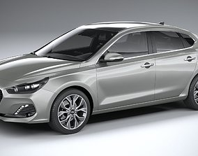 3D model Hyundai i30 fastback 2019