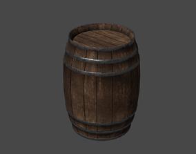 basement 3D asset realtime Wooden Barrel