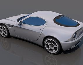 3D model low-poly All fa Romeo Racing car