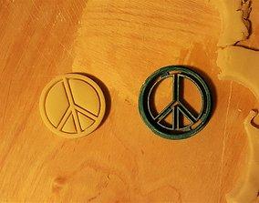 Peace sign cookie cutter 3D print model
