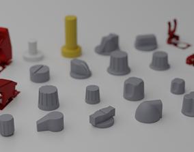 F16 Knobs Pack v2 3D model