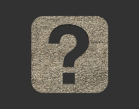 Question mark logo 3D printable model