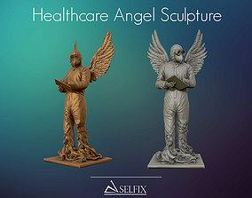 3D print model Covid19 Healthcare Angel Sculpture