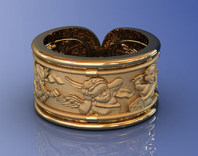 3D printable model Angels Music Gold Ring