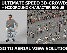 3d crowds and a foreground Virtue casual sitting cell 1
