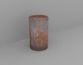 3D model drum Oil barrel
