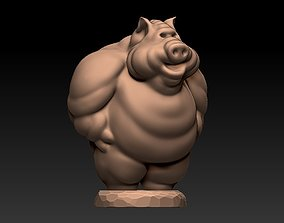 Angry pig 3D print model