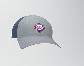 baseball cap 3D asset game-ready