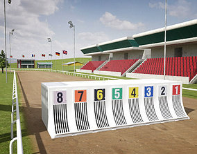 Greyhound Racecourse Pack 3D model