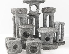 3D Stone light cube decorative n2