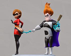 hero girl and villain 3D printable model