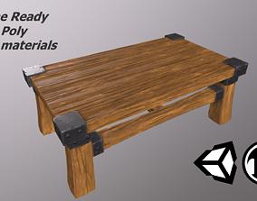 3D asset Fantasy Wooden Table