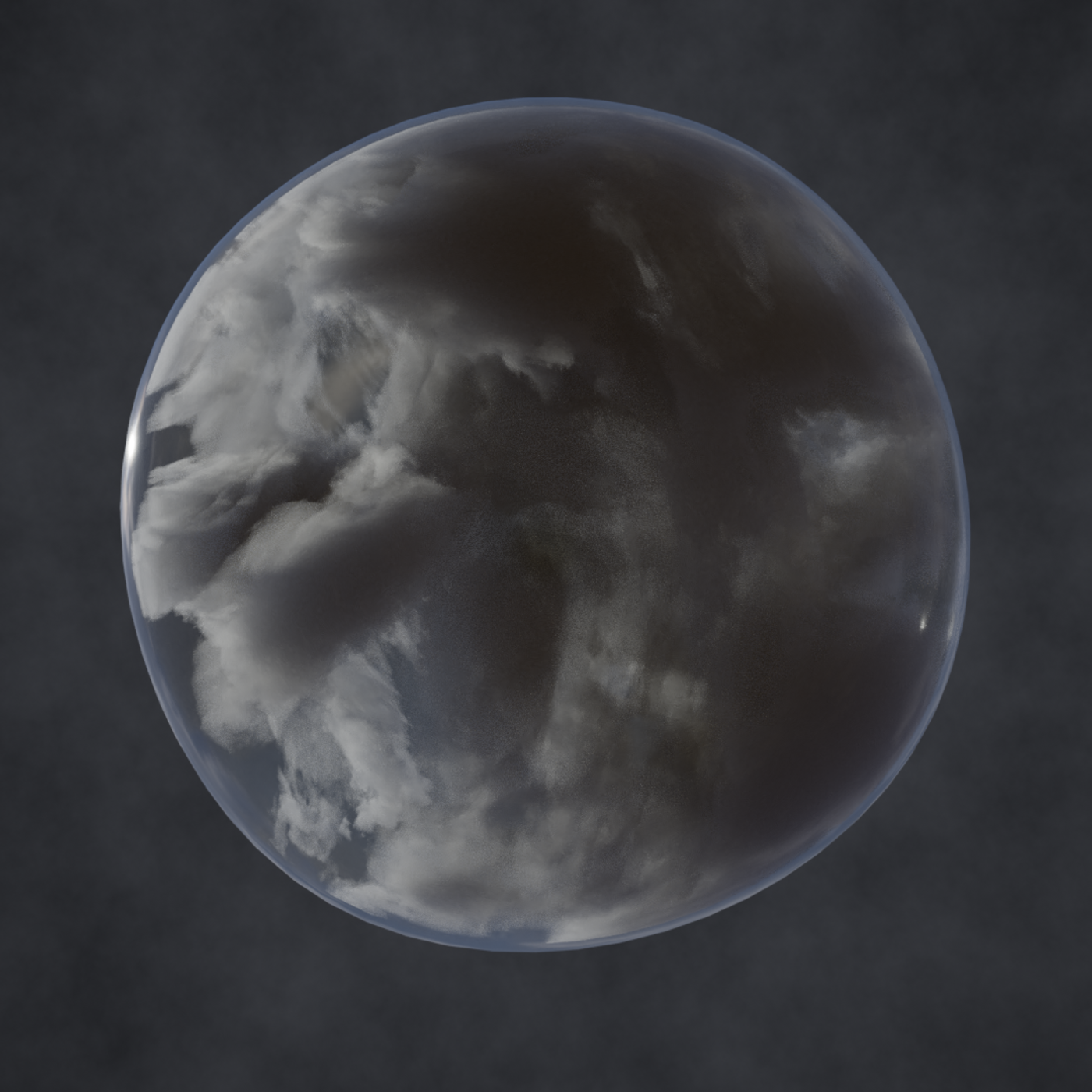Clouds in the bubble
