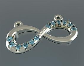 3D printable model eight pendant