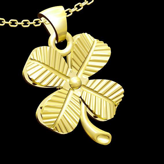 Leaves Pendant jewelry Gold 3D print model 3D print model