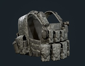 Military Gear Equipment Vest Game Ready 3D asset