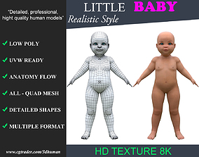 3D asset Low poly Baby Kid 001 - Realistic Style V1