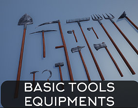 3D asset Lowpoly Basic Equipments and Tools