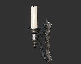 3D asset Old Wall Candlestick