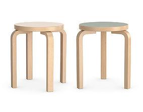 Aalto stools 3D model