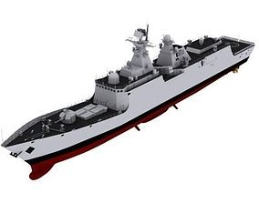Chinese Navy FFG-054A Class Frigate Max 3D model
