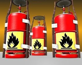 Gas Cooker Made Of Scrap And Duct Tape 3D model