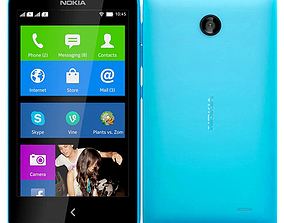 Nokia X Blue 3D model