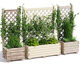 Planter with lattice 3D vertical