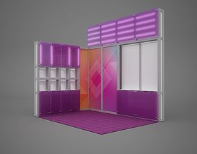 Exhibition stand octanorm maxima 4x3 m 3D model