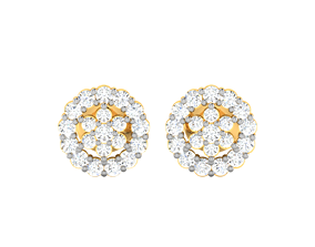 Women earrings 3dm render detail wedding