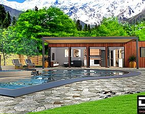 3D model mobile home vacation house tiny house K3