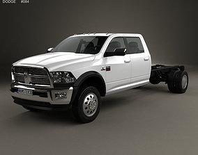 3D model Dodge Ram Crew Cab Chassis L2 Laramie 2012