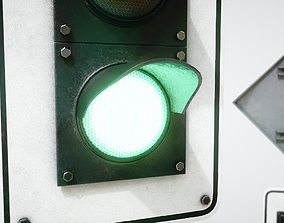 3D model PBR Traffic Lights