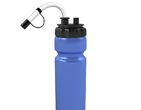 beverage animated 3D Sport Bottle rigged and animated
