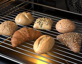3D Bread Models Photoscan pack