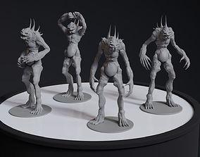 Alien Humanoid Concept 4 posed printable