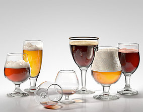 Alcohol Glass Set 3D