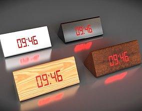 time 3D asset low-poly Alarm clock