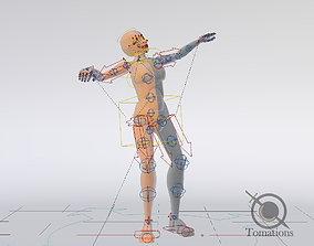 3D asset Blender Female Rigged Doll