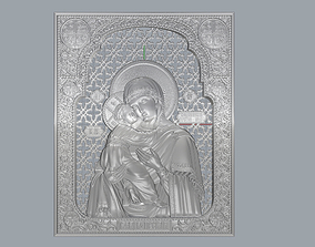 Virgin Mary with Sacred Heart Pendant 3D 1