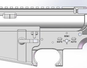 AIRSOFT AR15 M16 M4 RECEIVER bb 3D print model