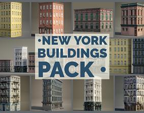 New York Background Buildings Pack 3D model