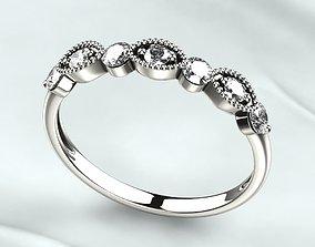 3D print model Seven Gems Fashion Gold Ring