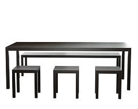 Garden Table 03 3D model