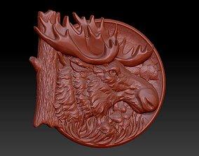 deer head panel 3D printable model