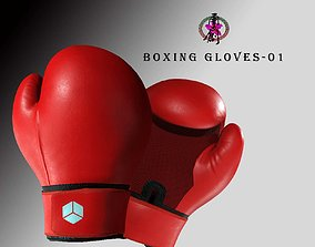3D asset Boxing Gloves-Red
